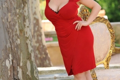 Joanna Bliss Huge Boobs Tight Red Dress 01