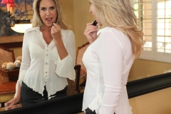 Jodi West Big Boobs Tight White Shirt and Tight Skirt 002