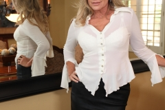 Jodi West Big Boobs Tight White Shirt and Tight Skirt 004