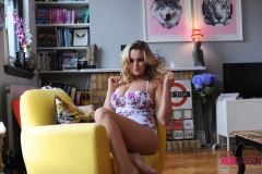 Jodie Gasson Big Boobs Pretty Floral Dress 01