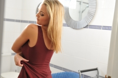 Jodie Gasson Big Boobs Takes off Dress for Shower 09