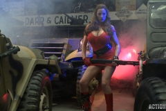 Jordan Carver Huge Tits Red Leather Gun Toting Babe for Actiongirls 091