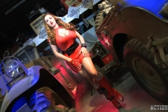 Jordan Carver Huge Tits Red Leather Gun Toting Babe for Actiongirls 134