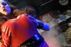 Jordan Carver Huge Tits Red Leather Gun Toting Babe for Actiongirls 146