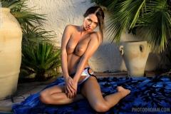 Justyna Big Boob Blue Bikini Babe for Photodromm 001