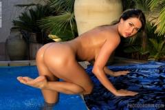 Justyna Big Boob Blue Bikini Babe for Photodromm 008