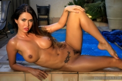 Justyna Big Boob Blue Bikini Babe for Photodromm 011
