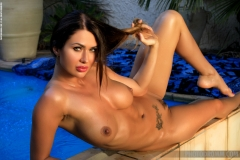 Justyna Big Boob Blue Bikini Babe for Photodromm 012