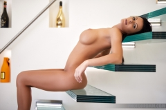 Karola Big Naked Tits on Glass Stairs for Photodromm 007