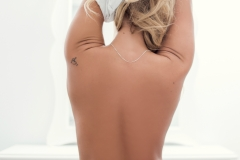 Katelyn White Sexy Big Boobs White then Pink Outfit 009