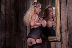 Katie Thornton Big Tits Black Lacy Lingerie 31