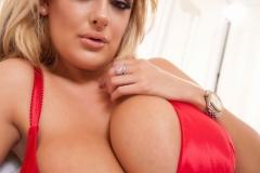 Katie Thornton Huge Boobs in a Red Bra 010