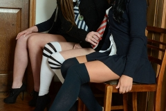 Kayleigh Williams, Kym Hodgson, and Roxy Payne Strip out of School Uniforms for St MacKenzies 002