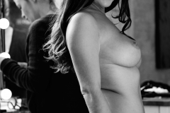 Kelly Hall Big Naked Tits in Moody Black and White 012