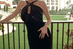 Kelly Madison Big Tits in Sexy Black Party Dress 003