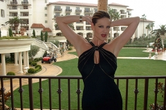 Kelly Madison Big Tits in Sexy Black Party Dress 007