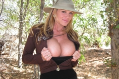 Kelly Madison Huge Boob Come Out in the Outback 002