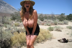 Kelly Madison Huge Boob Come Out in the Outback 010