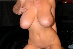 Kelly Madison Huge Boobs in a White Top 016