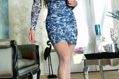 Kelly Madison Huge Tits Blue Minidress 004