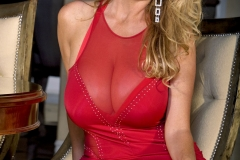 Kelly Madison Huge Tits in Red Minidress 001
