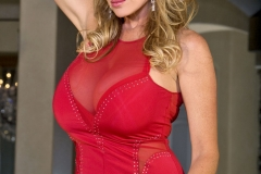 Kelly Madison Huge Tits in Red Minidress 003