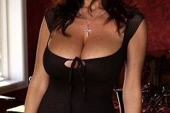 Kelly Madison Huge Tits Smoking Hot Black Dress 004