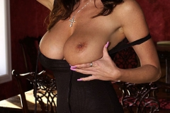 Kelly Madison Huge Tits Smoking Hot Black Dress 007