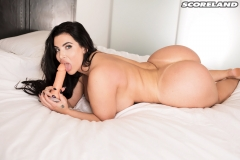 Korina Kova Huge Boobs Jumping on your Bed 016