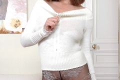 Kyla Cole Big Boobs White Sweater Meat 02