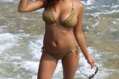 Lacey Banghard Big Boobs Yellow Bikini 02