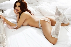Lacey Banghard Nice Breasts White Lingerie 06