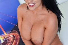 Lacie James Big Boobs Get Naked out of Black Minidress 012