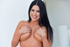 Lacie James Big Boobs Get Naked out of Black Minidress 015