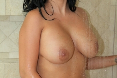 Lacie James Big Boobs in Black Minidress 012