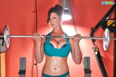 Lana Kendrick Big tit gym workout 01