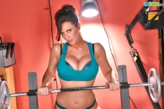 Lana Kendrick Big tit gym workout 04