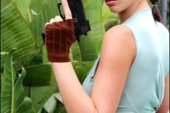 Lana Kendrick boobs as Lara Croft 00