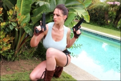 Lana Kendrick boobs as Lara Croft 03
