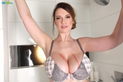 Lana Kendrick Huge Boobs Get Naked in the Shower 002
