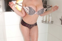 Lana Kendrick Huge Boobs Get Naked in the Shower 007