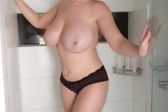 Lana Kendrick Huge Boobs Get Naked in the Shower 019