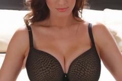 Lana Kendrick Huge Breasts in a Black Bra 001