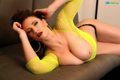 Lana Kendrick Huge Tits Flop Out of Bright Yellow Top 008