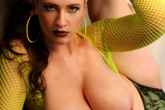 Lana Kendrick Huge Tits Flop Out of Bright Yellow Top 014