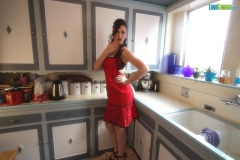 Lana Kendrick Massive Tits Apron in the Kitchen 01
