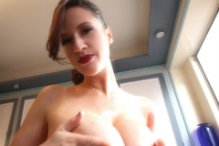 Lana Kendrick Massive Tits Apron in the Kitchen 13