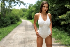 Laureen Big Boobs in a White Bodysuit 001