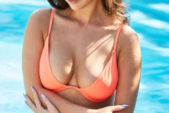 Lauren-Louise-Big-Tits-in-Orange-Bikini-at-the-Pool-002