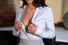 Lauren Louise Big Tits in Tight Secretary Outfit 005